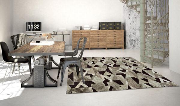 Moderni Tepih Genovaelegantan,jedinstven sa reljefnim dezenom i geometrijskim motivima - internet prodaja - Commodo Home & Living