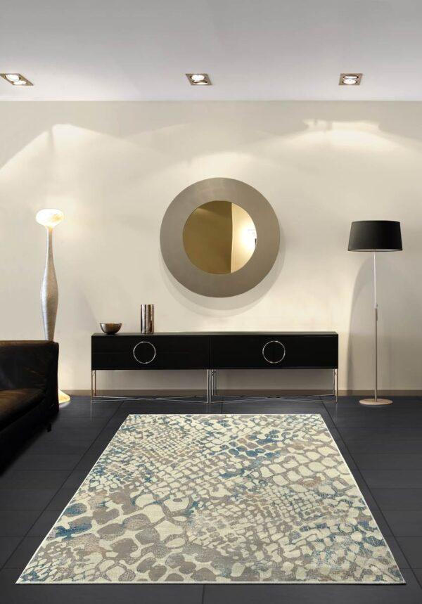 Moderni Tepih Genova elegantan,jedinstven sa reljefnim dezenom - internet prodaja- Commodo Home & Living