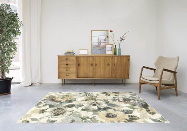 Moderni Tepih Matrix elegantan i klasičan sa cvijetnim motivima,sive boje-Internet prodaja- Commodo Home & Living