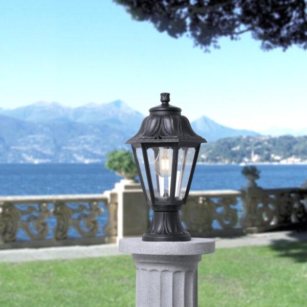 Moderna Spoljna podna lampa - ANNA-MIZAR klasičnog dizajna, crne boje - internet prodaja - Commodo Home & Living