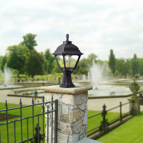Moderna Spoljna podna lampa MINILOT CEFA klasičnog dizajna, crne boje - internet prodaja - Commodo Home & Living