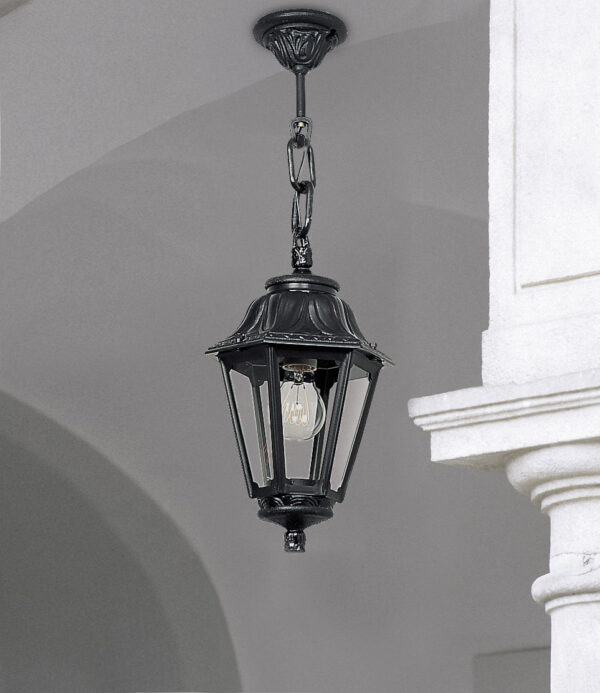 Moderna Spoljna viseća lampa - ANNA-SICHEM klasičnog dizajna, crne boje - internet prodaja - Commodo Home & Living