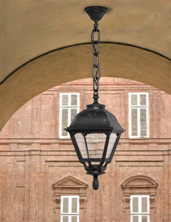 Moderna Spoljna viseća lampa - SICHEM TOBIA klasičnog dizajna, crne boje - internet prodaja - Commodo Home & Living