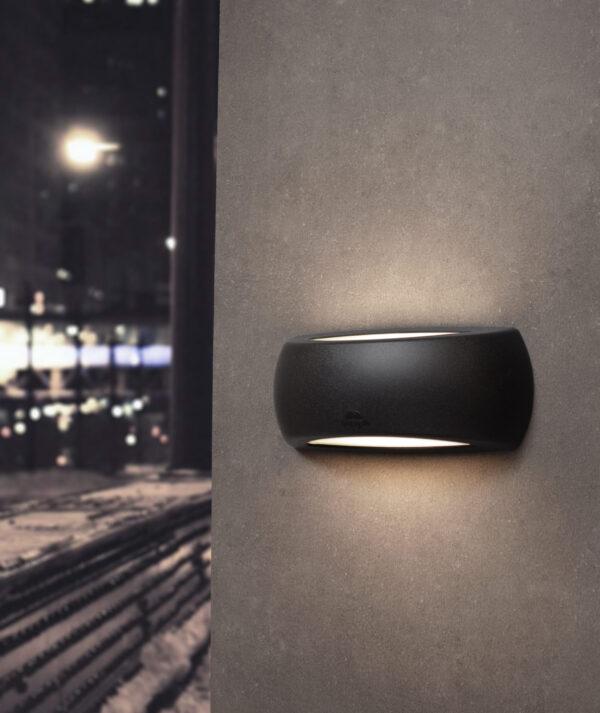 Moderna Spoljna zidna lampa - FRANCY-OP klasičnog dizajna, crne boje - internet prodaja - Commodo Home & Living