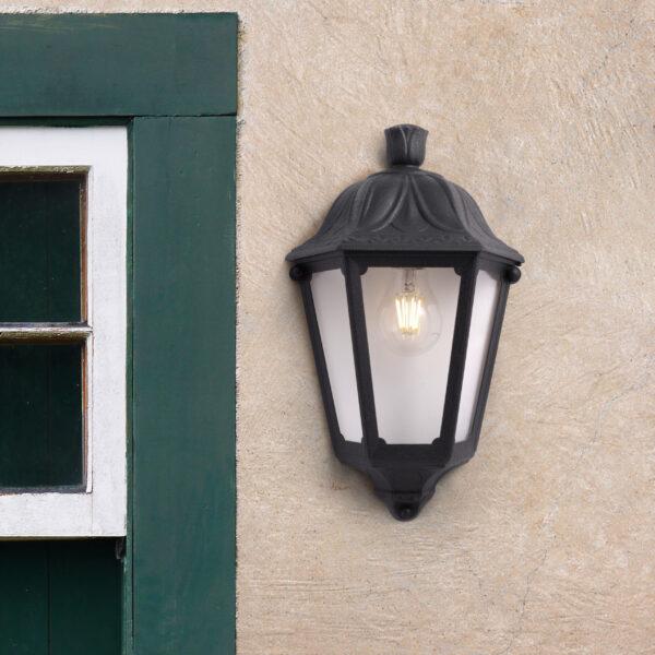 Moderna Spoljna zidna lampa - IESSE black klasičnog dizajna, rne boje - internet prodaja - Commodo Home & Living