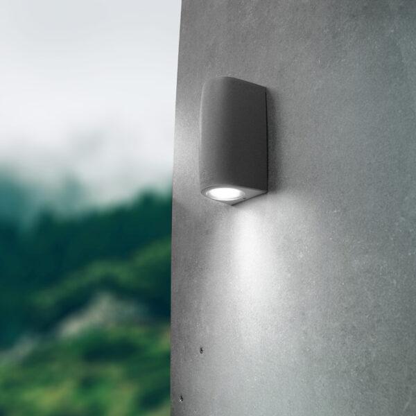 Moderna Spoljna zidna lampa - MARTA 90 L klasičnog dizajna, sive boje - internet prodaja - Commodo Home & Living