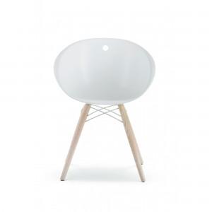Moderna Stolica Gliss neobičnog dizajna, kvalitetnai udobna , bijele boje - internet prodaja - Commodo Home & Living