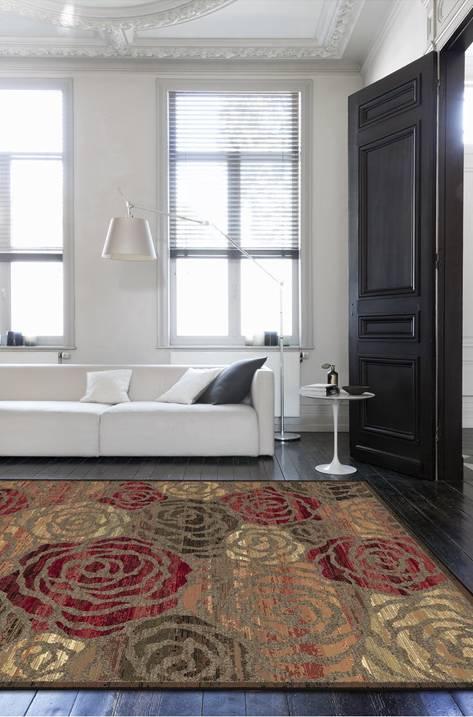 Moderni Tepih - Genova elegantan,jedinstven sa reljefnim dezenom sa cvijetnim motivima - internet prodaja- Commodo Home & Living