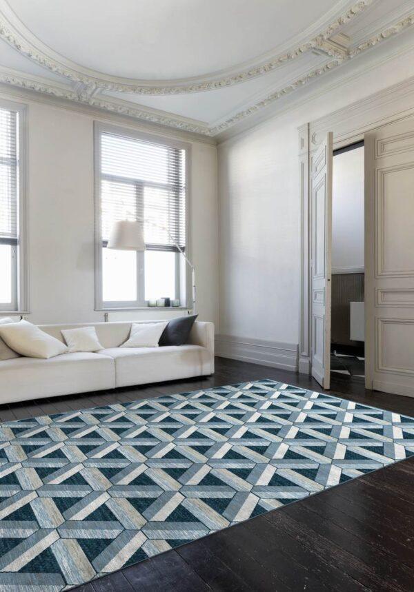 Moderni Tepih Genova elegantan,jedinstven sa reljefnim dezenom i geometrijskim motivima - internet prodaja - Commodo Home & Living