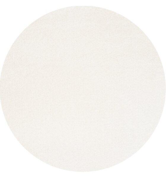 Moderni Tepih Dolce Vita krug ,mekani,bijele boje - Internet prodaja - Commodo Home & Living