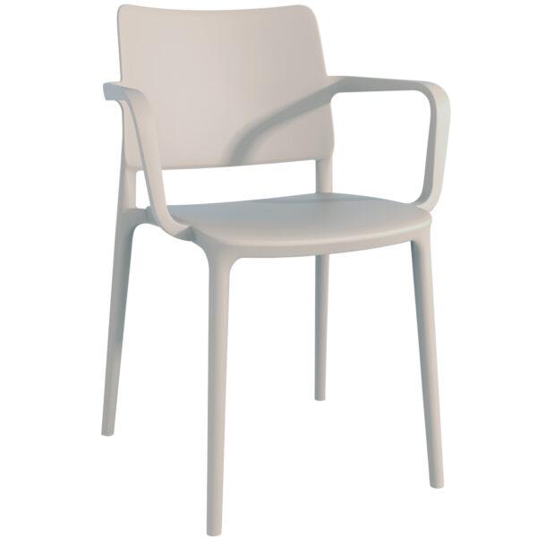 Moderna Stolica za baštu -Joy K jednostavnog dizajna,kvalitetna , bež boje - online shop - Commodo Home & Living