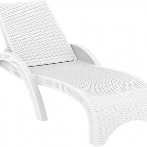 Moderna Ležaljka Fiji jednostavnog dizajna,udobna , bijele boje - online shop - Commodo Home & Living