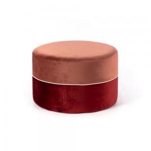 Moderni Tabure Olivia neobičnog dizajna, kvalitetnai udobna , bordo boje - internet prodaja - Commodo Home & Living
