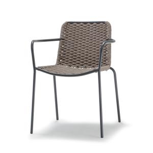 Moderna Stolica za baštu - Canex/Lux Poltroncina klasičnog dizajna,udobna , braon boje - online shop - Commodo Home & Living