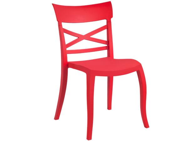 Moderna Stolica za baštu - X-Sera S klasičnog dizajna,udobna,crvene boje - online shop - Commodo Home & Living