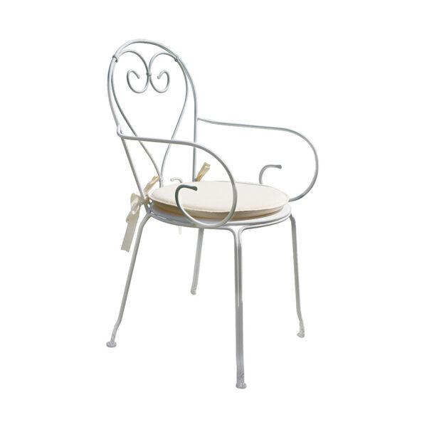 Moderna Stolica za baštu - Sirmione sa rukonaslonom moderog dizajna,udobna , boja slonove kosti - online shop - Commodo Home & Living