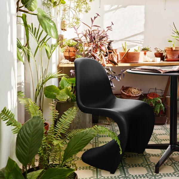 Moderna Stolica Vitra Panton modernog dizajna, udobna , crne boje - online shop - Commodo Home & Living