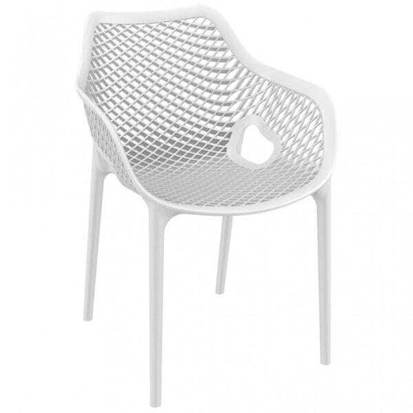 Moderna Stolica za baštu Air XL neobičnog dizajna,udobna , bijele boje - online shop - Commodo Home & Living