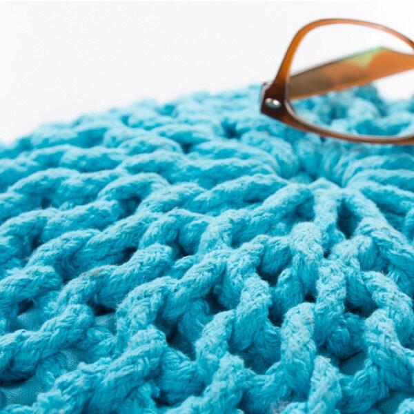 Moderni Tabure My COOL POUF – Turquoise modernog dizajna, udoban , plave boje - online shop - Commodo Home & Living