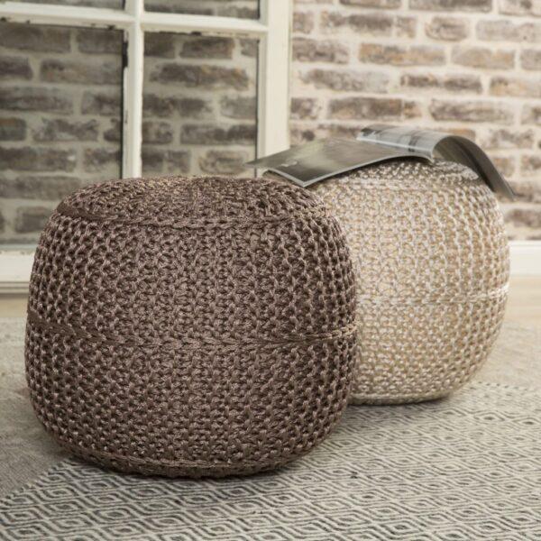 Moderni Tabure My POUF EXO – Taupe modernog dizajna, udoban - online shop - Commodo Home & Living