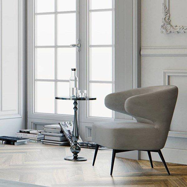 Moderna Stolica Ogiaro Leisure modernog dizajna, kvalitetna i udobna , sive boje - internet prodaja - Commodo Home & Living