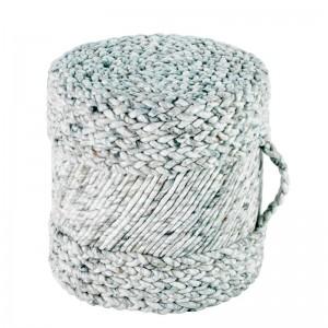 Moderni Tabure My POUF Ivory – Taupe modernog dizajna, udoban , bijele boje - online shop - Commodo Home & Living