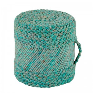 Moderni Tabure My POUF Ocean – Taupe modernog dizajna, udoban , plave boje - online shop - Commodo Home & Living