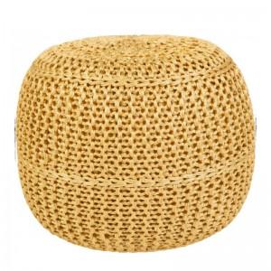 Moderni Tabure My POUF EXO – Taupe modernog dizajna, udoban , žute boje - online shop - Commodo Home & Living