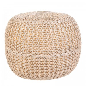 Moderni Tabure My POUF EXO – Taupe modernog dizajna, udoban , roze boje - online shop - Commodo Home & Living