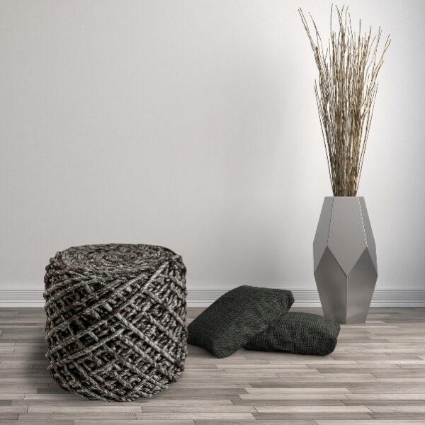 Moderni Tabure My POUF ROYAL - Coffe modernog dizajna, udoban , sive boje - online shop - Commodo Home & Living