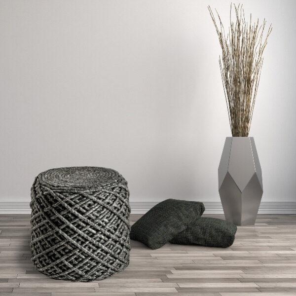 Moderni Tabure My POUF ROYAL - Graphite modernog dizajna, udoban , sive boje - online shop - Commodo Home & Living
