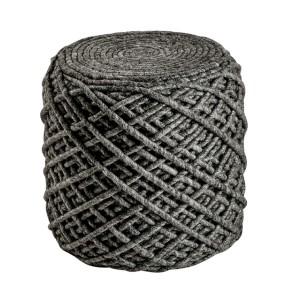 Moderni Tabure My POUF ROYAL - Graphite modernog dizajna, udoban , sive boje - online shop - Commodo Home & Living