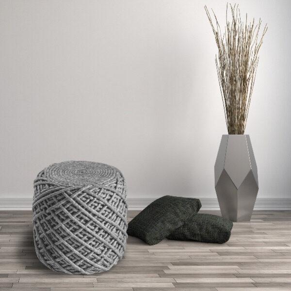 Moderni Tabure My POUF ROYAL – Silver modernog dizajna, udoban , sive boje - online shop - Commodo Home & Living