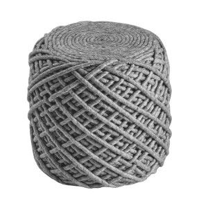 Moderni Tabure My POUF ROYAL – Silver modernog dizajna, udoban , sive boje - online shop - Commodo Home & Living