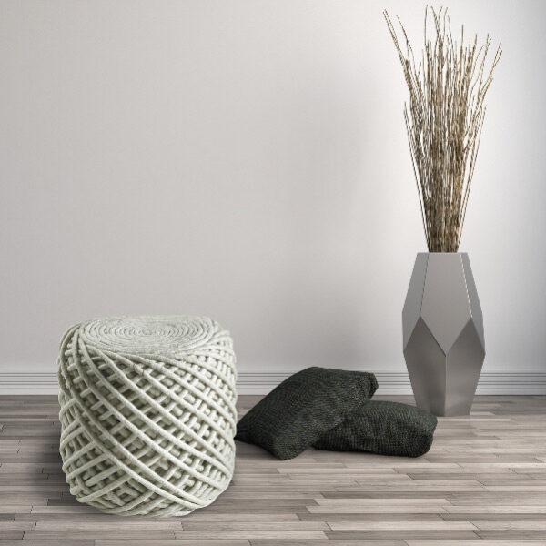 Moderni Tabure My POUF ROYAL – Ivory modernog dizajna, udoban , bijele boje - online shop - Commodo Home & Living