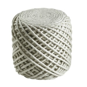 Moderni Tabure My POUF ROYAL – Ivory modernog dizajna, udoban , bijele boje - online shop - Commodo Home & Living