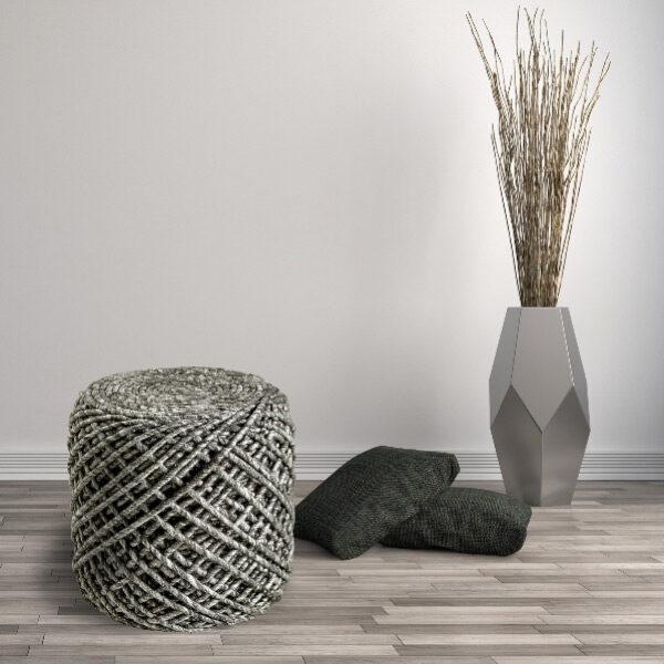 Moderni Tabure My POUF ROYAL – Sand modernog dizajna, udoban , sive boje - online shop - Commodo Home & Living